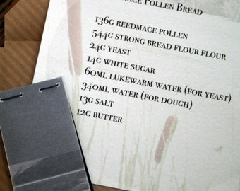 Reedmace Pollen Bread Recipe and Seeds - 5/20