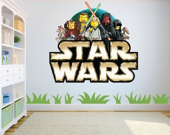 High Quality Star Wars Lego Logo Assorted 2 Designs Wall Art Sticker/Decal Childrenu0027s  Room Décor Large Amazing Pictures