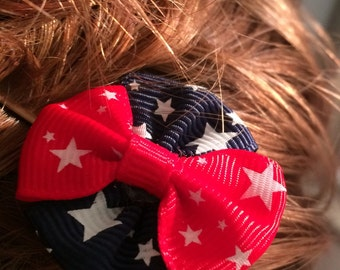 Red, White, and Blue Fourth of July Hair Pin