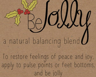 Be Jolly Rollerball Labels for Essential Oil Blends