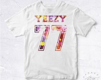 NEW Tee Shirt Yeezy 77 BIO HANDMADE Flowers Nature Kanye 2020 Support Rap Hip Hop Eminem Tupac Biggie Drake Hype Ghetto Politic Usa Dope