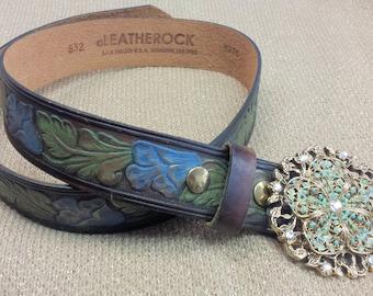 Hand embossed Belt/Leather Belt