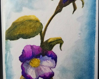 Apple Blossom Original Watercolor Painting