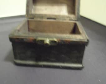 Wooden small Chest with latch  pirate chest