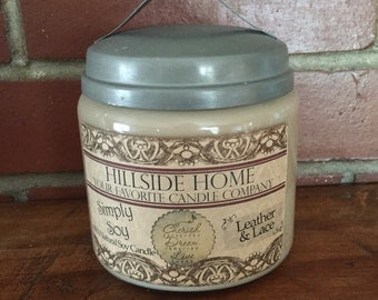 Rustic soy jar candles, highly scented, jar candles, scented soy jar candles, hand poured candles, choose your scent candles