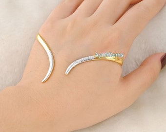 Gold Plated Hand Cuff bracelet