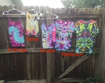 Custom Tie Dye small, medium, large t-shirt or tank