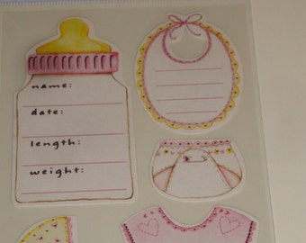 NEW ~ Baby Scrapbooking Stickers Embellishments