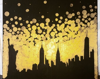 New York City Skyline Painting//Statue of Liberty Painting