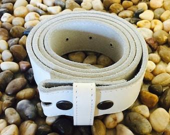Genuine White Leather Belt