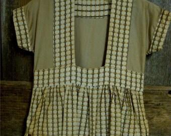 Vintage Clothes Pin Bag Brown Dress Hanger Laundry Room Peg Rack Dress Pins Old