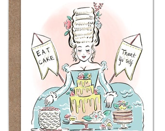 Marie Antoinette Cake Birthday Card