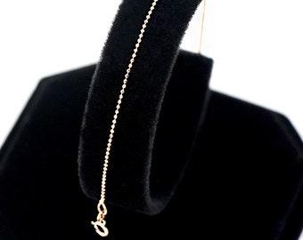 14K Solid Gold Chain Bracelet Gold Bracelet Dainty Bracelet Layering Bracelet Minimalist Bracelet
