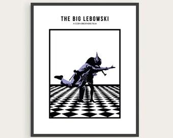 The Big Lebowski, Jeff Bridges, Julianne Moore, Minimal Movie Poster.
