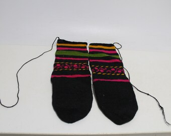 Antique tradicional woven slippers