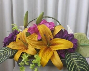 Two-Sided Silk Flower Arrangement