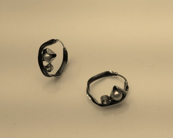 Earrings in silver925, small earrings, art nouveau style