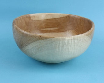 Curly maple green turned bowl