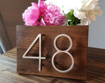 House Number Plaque, house number, address sign, address plaque, metal house numbers, wedding gift, present, outdoor sign