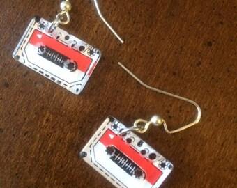 Tape Cassete earrings