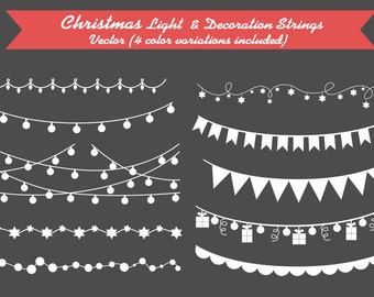 Christmas Lights / decoration / embellishment / decoratives / vector / instant download
