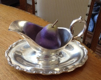 SILVER GRAVY BOWL - May be used for vintage decor