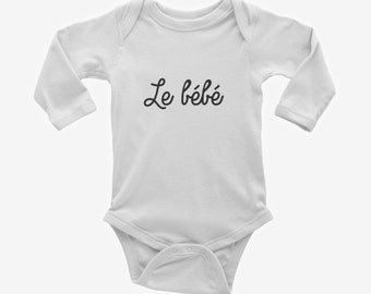 Le bébé French Baby Bodysuit – Makes a Cute Gift for a newborn baby!