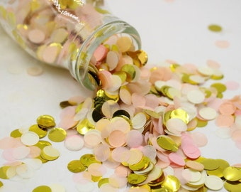 Pink Cream Gold Tissue Paper Confetti Light Flying Tossing as Flower Full in Wedding Party