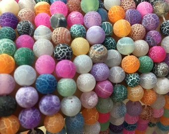 8mm Agate Round Beads,Gemstone Beads  for Jewelry Making