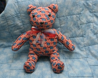 american flag stuffed teddy  bear