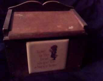 Vintage Holly Hobbie Recipe Box