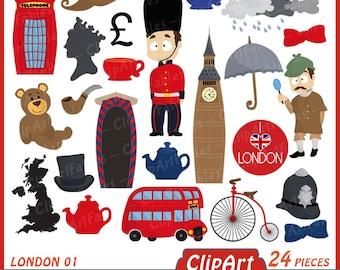 London clipart | Etsy | {Französische küche clipart 98}