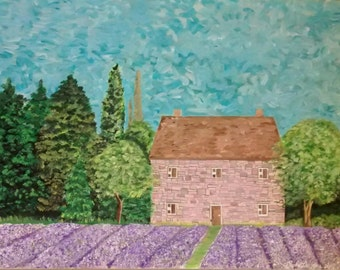 French Countryside, house, lavender, scenic