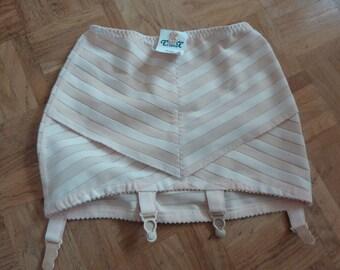 Vintage 60s Corset with Suspenders Girdle TRIOLET Belgium 70 95 Sixties