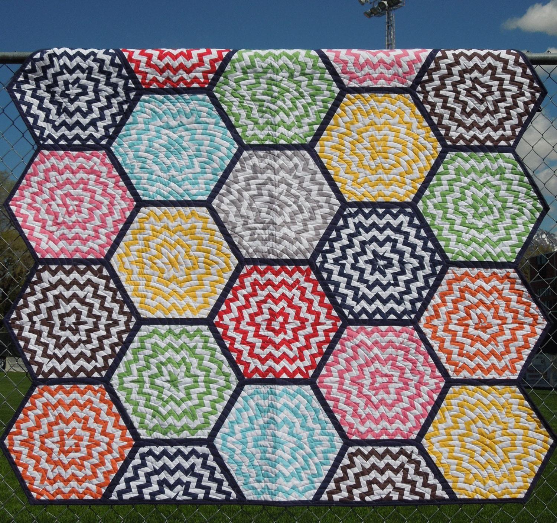 Hexagon Chevron Quilt Pattern