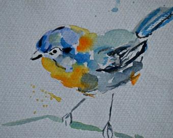 Original watercolor painting, bird Watercolor Painting Art Print, Bird Art Watercolour Painting Art, Wall Art