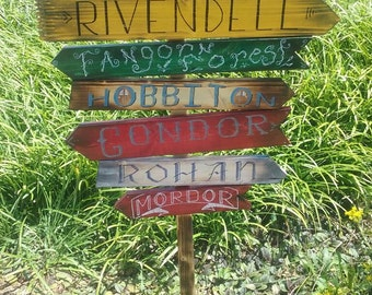 Lord of The Rings yard sign. Rustic