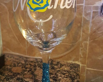 Personalize your mothers day gift. We have many different colors size and shapes in wine glasses.