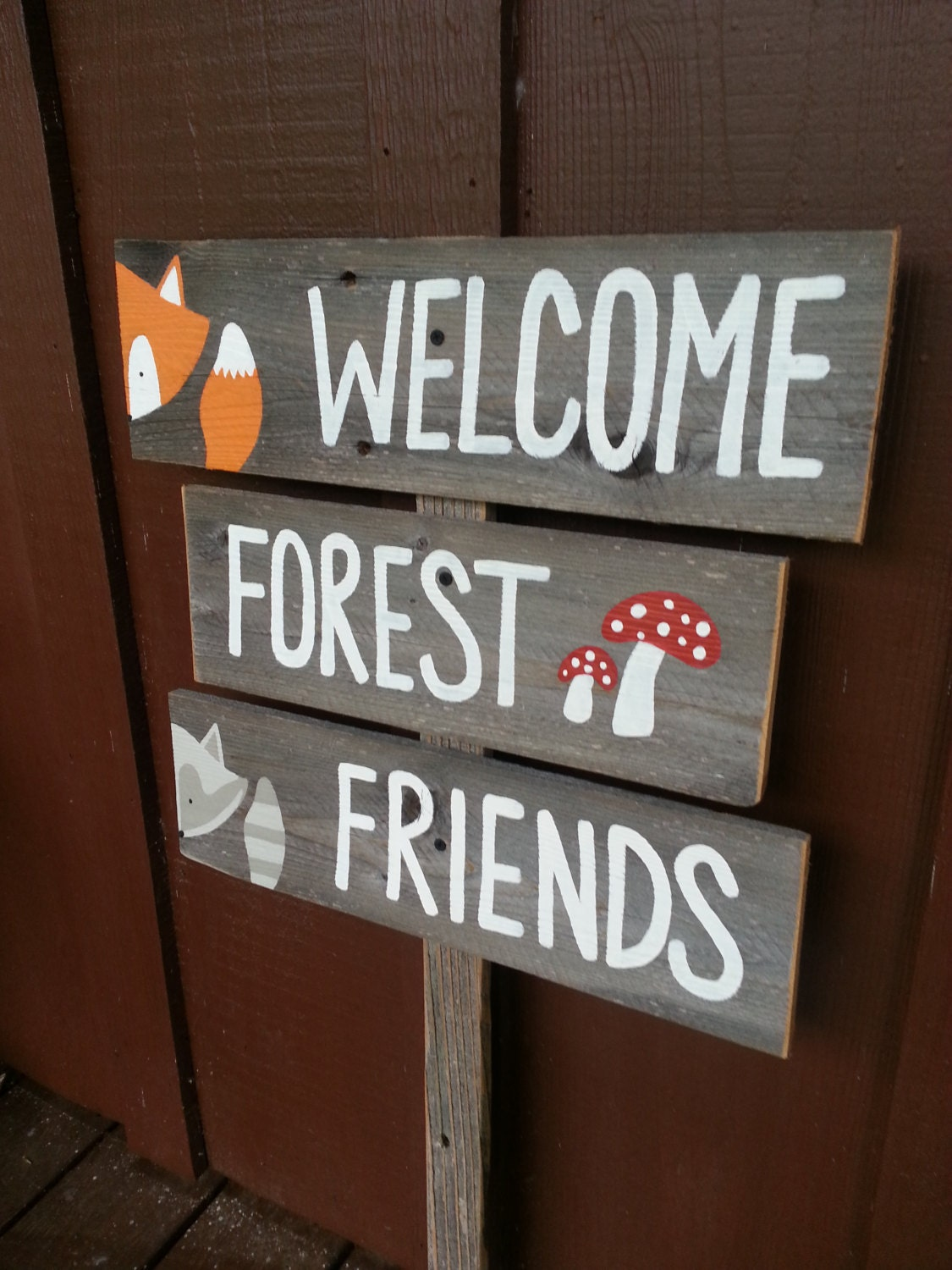 Welcome Forest Friends Sign Baby Shower Signs By