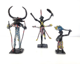 Three African little figurines 20th century