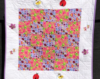 Frog Prince and Bugs Quilt