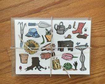 A Gardener's Favorite Things card pack