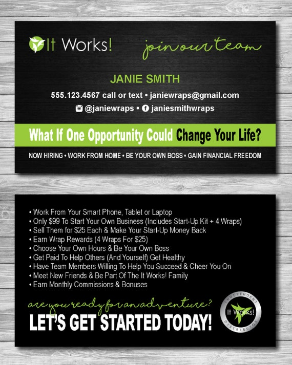 It works global business cards join my team by for It works global business cards