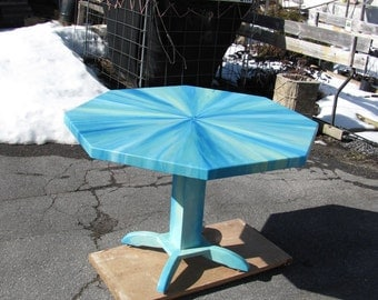 Dining, game, beach, sun room, up-cycled table