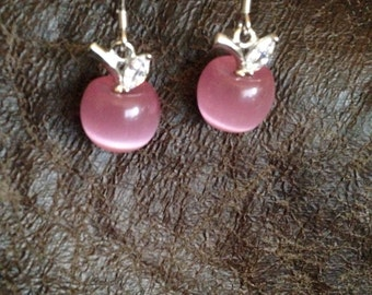 Rose Quartz Apple earrings