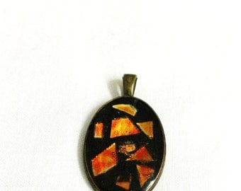 Black & Orange Pendant