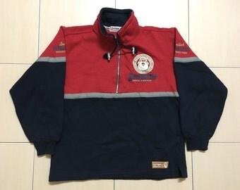 Vintage 90's Santa World Classic Design Skate Sweat Shirt Sweater Varsity Jacket Size S #A547