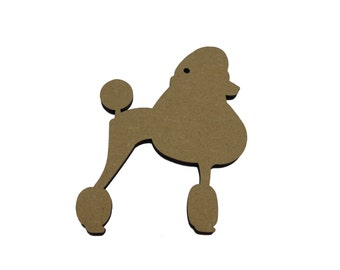10 * Poodle 4cm - 10cm , Option To Have With Or Without Hanging Hole