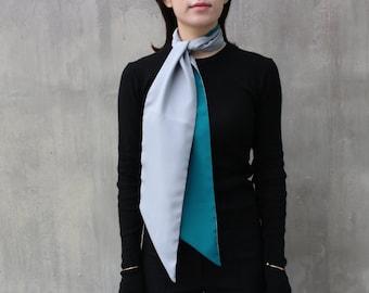Color Block Silk Scarf