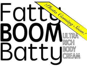 Natural Body Butter - FattyBoomBatty Body Cream